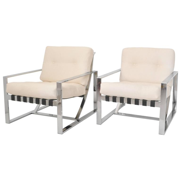 Pair of Italian Neo Rationalist Club Chairs 1
