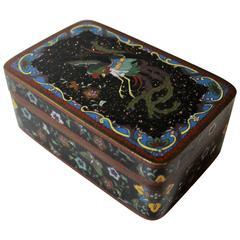 Japanese Meiji Period Cloisonne Box