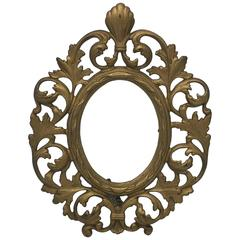 19th Century Gilt Bronze Standing Picture Frame