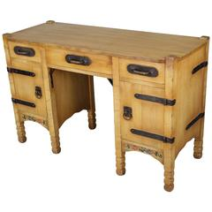 1930s Signed Monterey Hand-Painted Desk