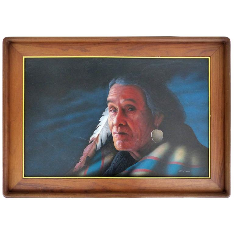 20th Century Southwestern Portrait by Jeff St. John
