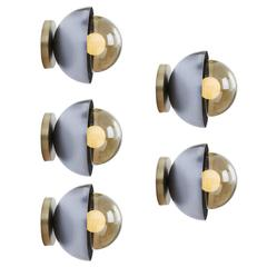 Curve Brass and Steel Wall Sconces