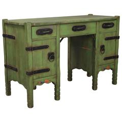 1930s All Original Spanish Green Monterey Desk