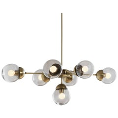 Bounce-Oval Made to Order Brass Chandelier