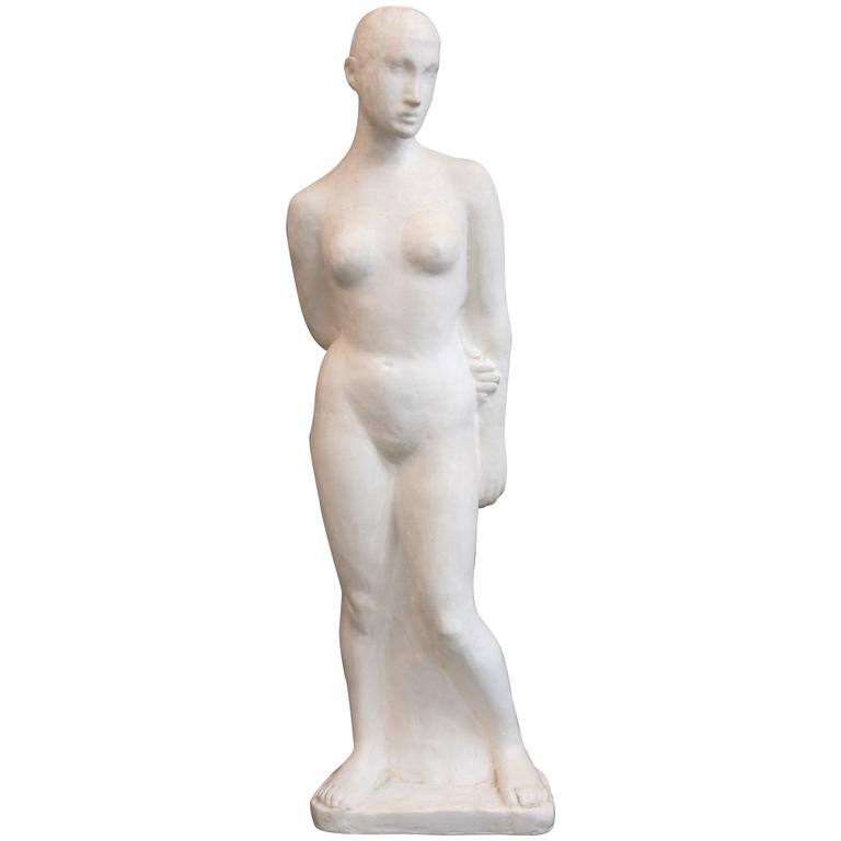 Art Deco Inspired Woman Figure For Sale