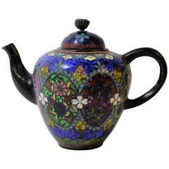 Japanese Meiji Period Cloisonne Miniature Teapot