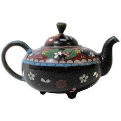 Japanese Meiji Period Miniature Cloisonne Teapot