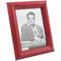 French Picture Photo Frame Faux Leather Pattern, circa 1960s
