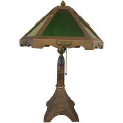 Patriotic WWI Trench Art Table Lamp