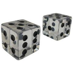 Pair of Large Acrylic Dice by Charles Hollis Jones