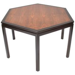 Edward Wormley For Dunbar Hexagonal Mahogany And Walnut Dining Table