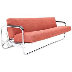 Alvar Aalto Sofa Daybed Mod 63 by Wohnbedarf, Switzerland, 1930s