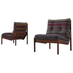 Illum Wikkelsø Chairs Reupholstered with Paul Smith Fabric