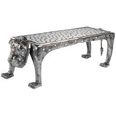 Etruscan Bronze Bench 'Patou' N°1/8 by Cecile Ballureau