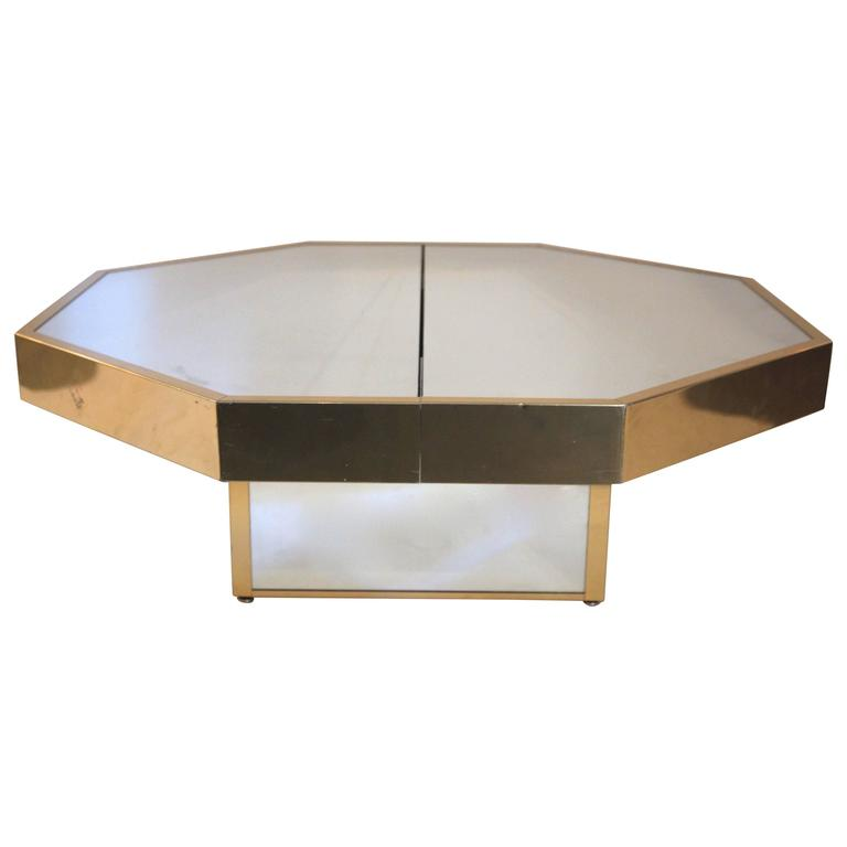 in the style of gabriella crespi coffee table octagonal circa 1970 italy for sale at 1stdibs. Black Bedroom Furniture Sets. Home Design Ideas