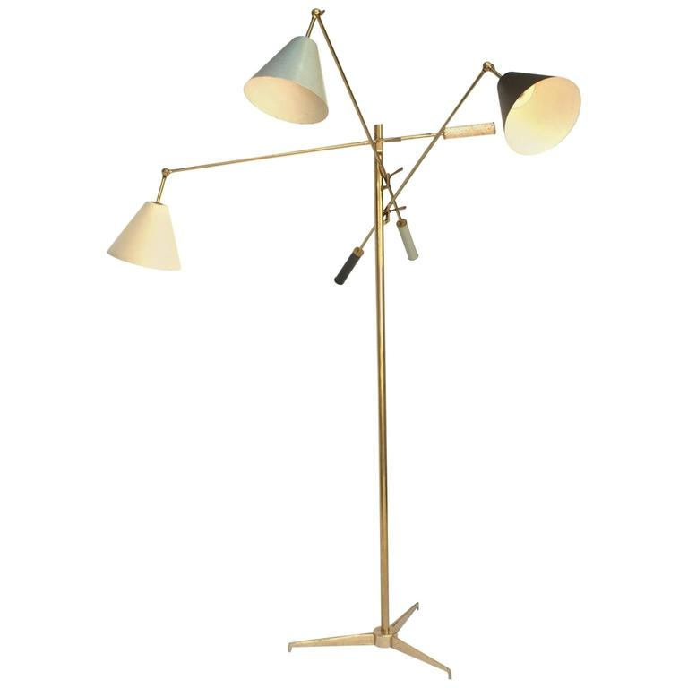 Angelo Lelii, Triennale Floor Lamp, Arredoluce, 1947 For Sale