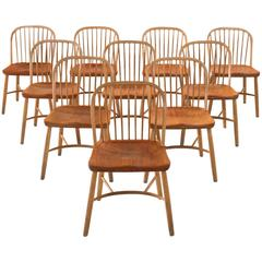 Palle Suenson Dining Chairs in Teak and Beech