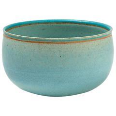 Very Rare and Elegant Blue Ceramic Bowl by Alev Ebüzziya Siesbye, circa 1988