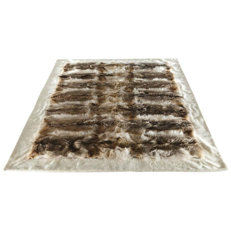 Shearling and Coyote Fur Rug 1