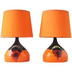 Pair of Ceramic Table Lights by Bjorn Wiinblad, Denmark