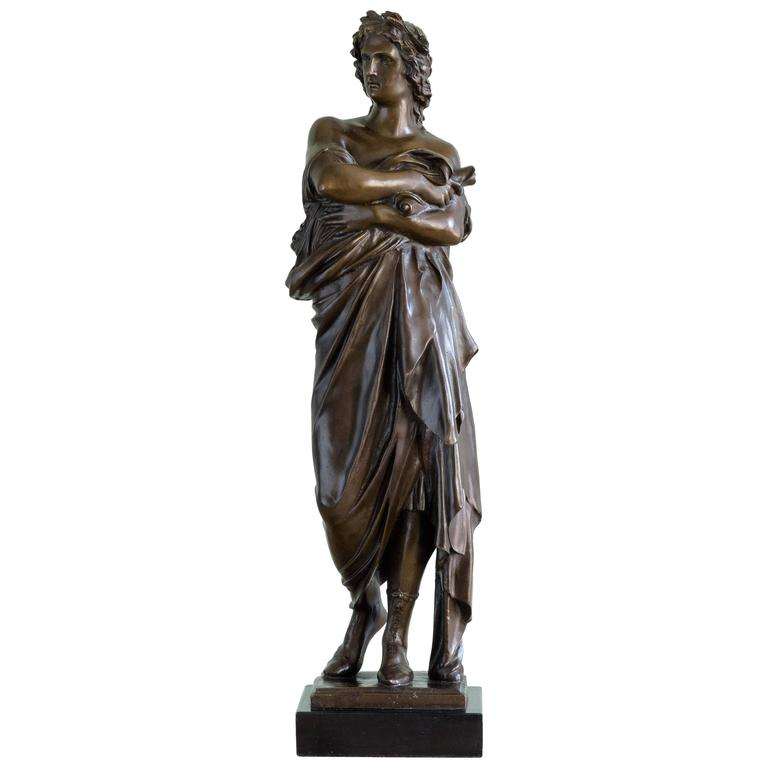 Bronze Statue of Vergil Holding a Copy of the Aeneid For Sale