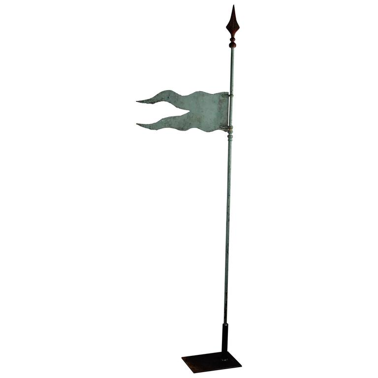 Early 20th Century French Silhouette Flag Weathervane