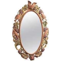 Early to Mid-20th Century Carved Wall Mirror, Anglo-Indian