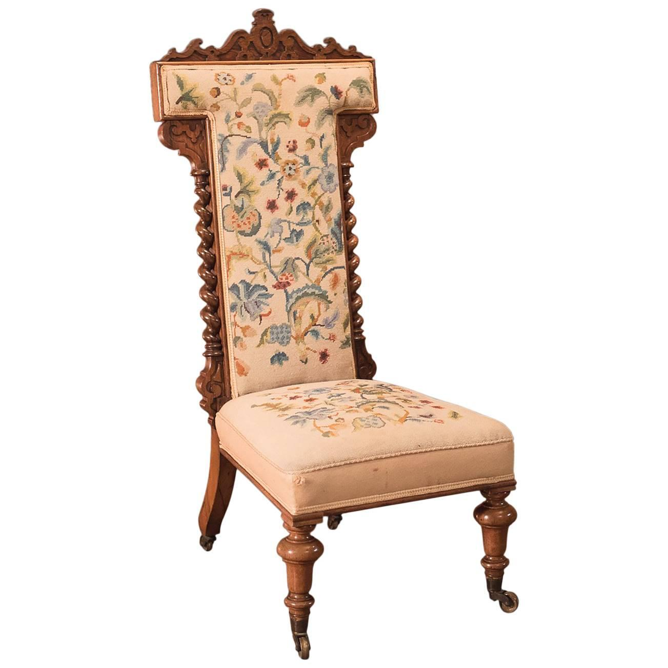 Rare set of twelve victorian solid oak leather antique chairs empire - Antique Prie Dieu Chair Victorian Rosewood Circa 1850