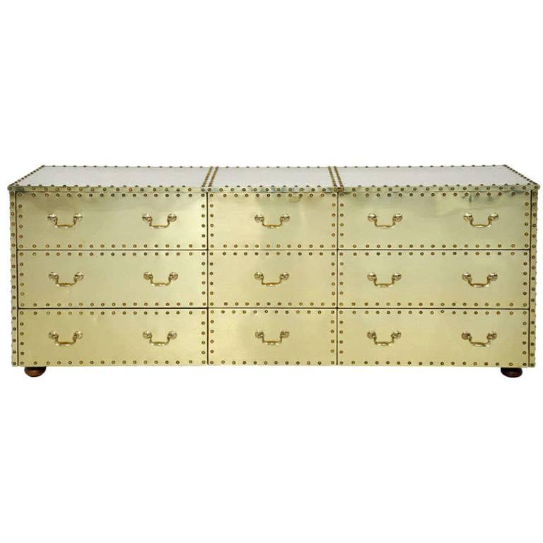 Sarreid Brass-Clad Dresser 1