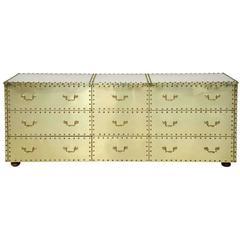 Sarreid Brass-Clad Dresser
