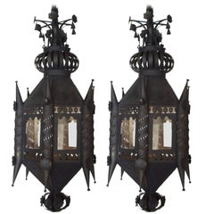 Pair of Andalusian 19th Century Lantern Fixtures
