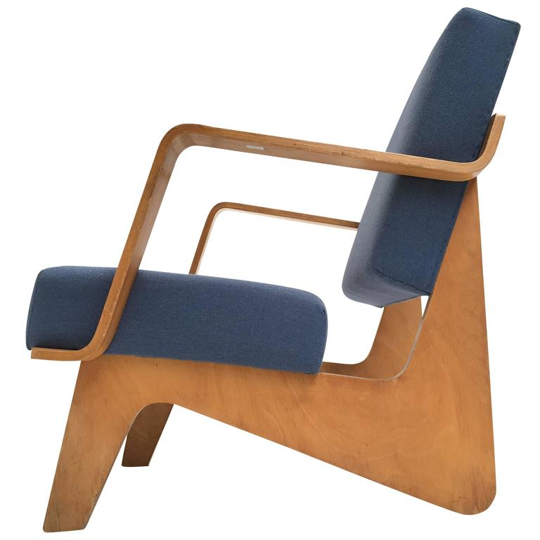 Birch Plywood FB03 Combex Plywood Armchair by Cees Braakman for UMS Pastoe, 1952 For Sale