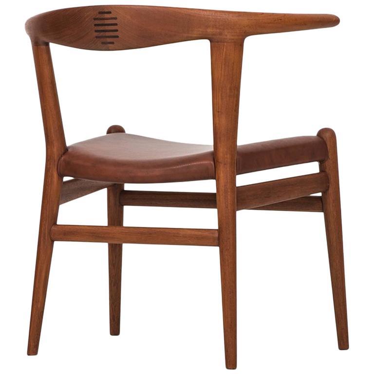 Hans Wegner Bullhorn Chair Model JH518 by Johannes Hansen in Denmark