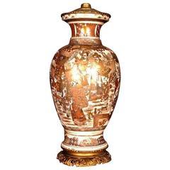 19th Century Louis XV Style Porcelain Japan Table Lamp