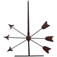 Late 19th Century Wrought Iron Arrow Weathervane