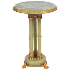 Empire Style Onyx and Gilded Ormolu Side Table