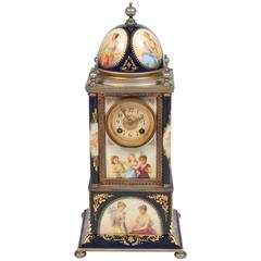 19th Century Vienna Porcelain Mantel Clock