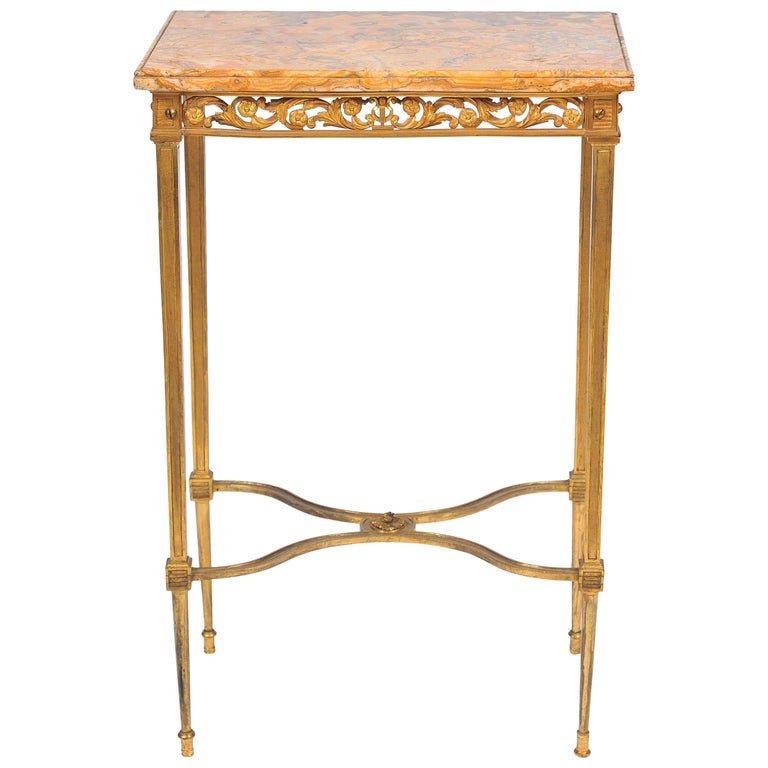 Louis XVI Style Ormolu Side Table For Sale