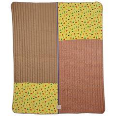 Quilted Vintage Silk Throw Blanket