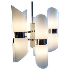 Mid-Century Modern twelve-Light Chandelier by Sciolari, Italy, circa 1970
