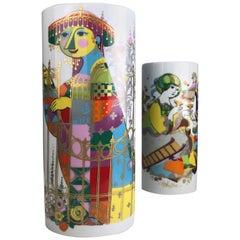 Björn Wiinblad Set of Commedia Dell`Arte Vases by Rosenthal
