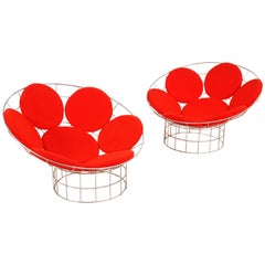 Verner Panton Pair of Peacock Chairs for Plus-Linje, circa 1959