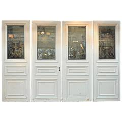 Art nouveau doors and gates 32 for sale at 1stdibs set of four french art nouveau craved glass doors circa 1900 sciox Images