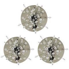 Up to Three Lobmeyr Metropolitan Opera Sputnik Met Crystal Scones Flush Mounts