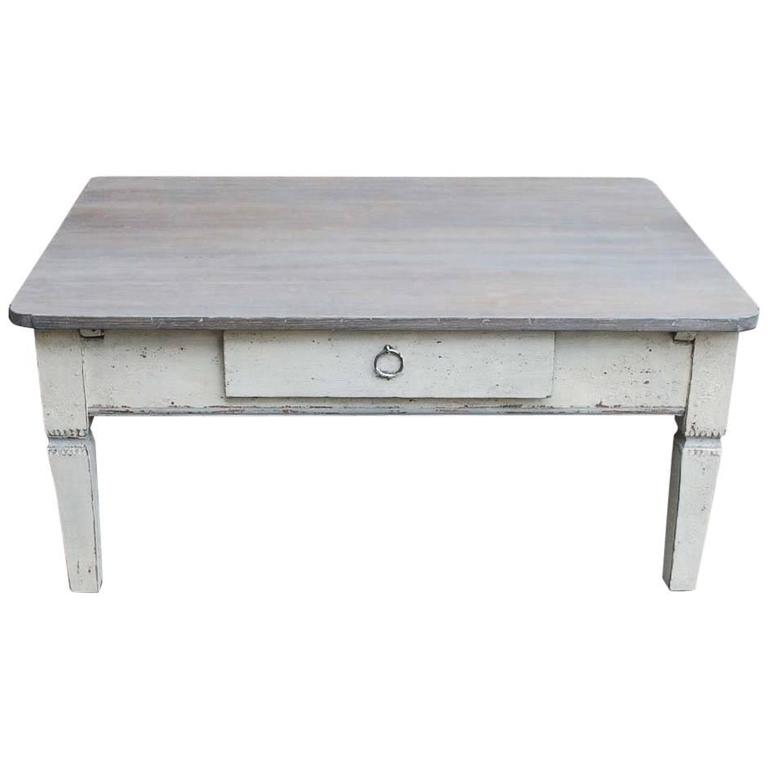 19th century oakwood coffee table - Metal Frame Coffee Table