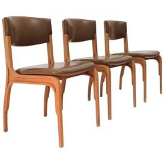 Three 1960s Italian Dining Chair by Gianfranco Frattini for Cantieri Carugati
