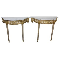 Pair of Fine Quality Louis XVI Style Console Tables
