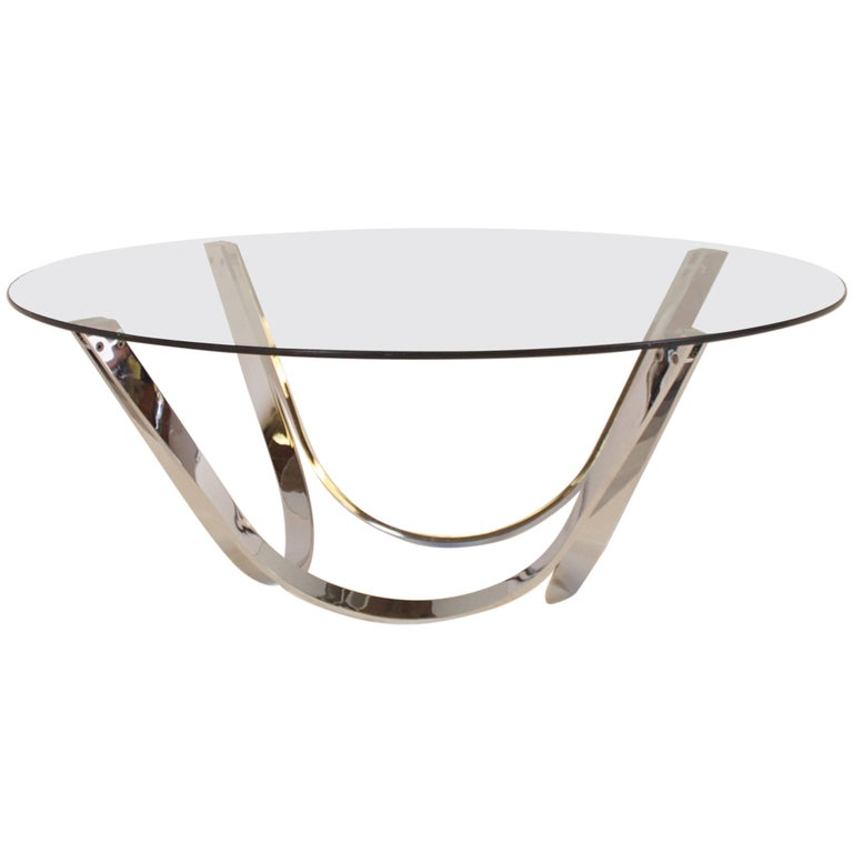 Sculptural Coffee Table Produced by Tri-Mark, 1970s For Sale