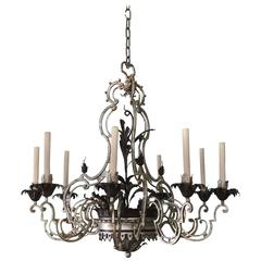 Wrought Iron Chandelier after Baguès