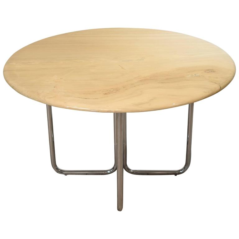 Round Vintage Marble Dining Table From Tecta, 1960s For Sale